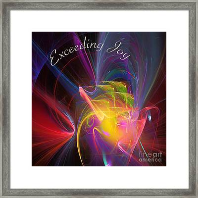 Exceeding Joy Framed Print by Margie Chapman