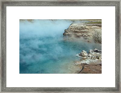 Excelsior Geyser Crater Framed Print