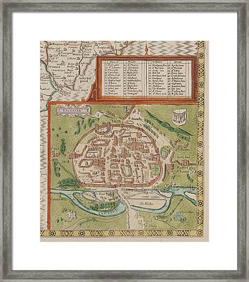 Excester Framed Print by British Library