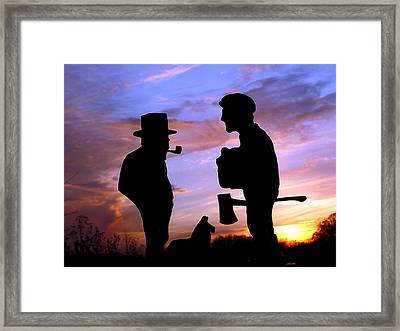 Exchanging Memories Framed Print