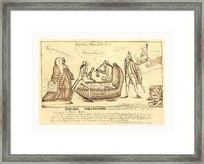 Excise Inquisition Erecting By English Slaves Framed Print