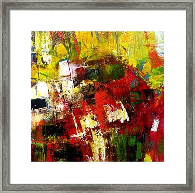 Framed Print featuring the painting Excited by Katie Black
