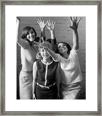 Excited Teenage Girls, C.1960-70s Framed Print