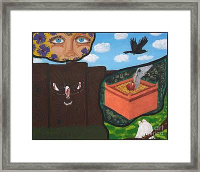 Excruciating Victory Framed Print by Vicki Maheu