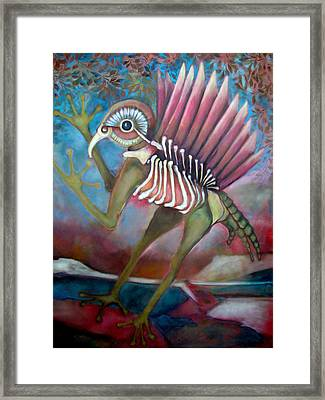 Framed Print featuring the painting Exctinct Species Iv by Irena Mohr