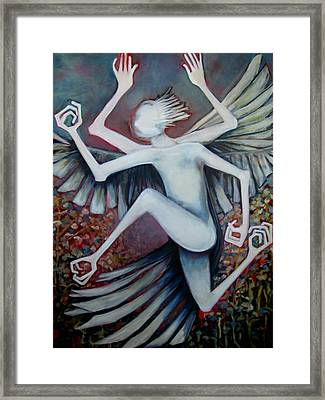 Framed Print featuring the painting Exctinct Species Vi by Irena Mohr
