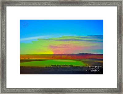Excuse Me While I Kiss The Sky ... Framed Print by Gwyn Newcombe