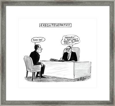 Executelepathy Framed Print