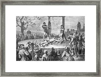 Execution By Wheel, Historical Artwork Framed Print by Bildagentur-online