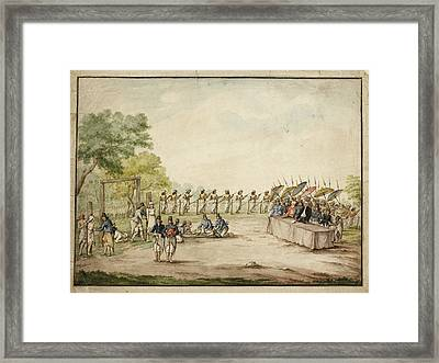 Execution Of Criminals Java Framed Print by British Library