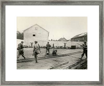 Execution Of German Ss Troops Framed Print by Everett