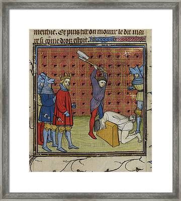 Execution Of Jacquerie Leaders Framed Print by British Library