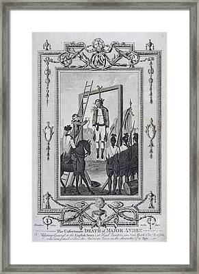 Execution Of Major Andre Framed Print by British Library