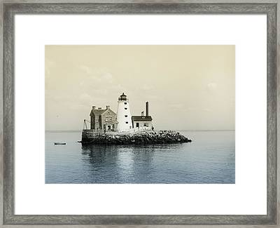 Execution Rocks Lighthouse New York  Framed Print by Bill Cannon