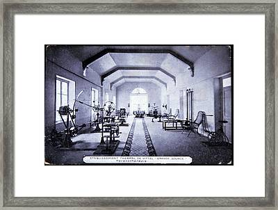 Exercise Room At A Spa Framed Print by Cci Archives/science Photo Library