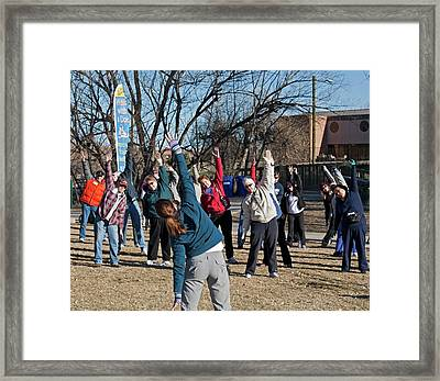 Exercising Healthcare Initiative Framed Print by Jim West