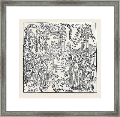 Exercitium Super Pater-noster Framed Print by English School