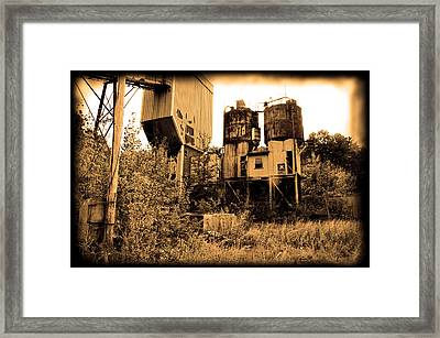 Exeter Concrete - Abandoned Framed Print