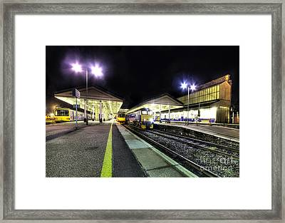 Exeter St Davids By Night  Framed Print by Rob Hawkins