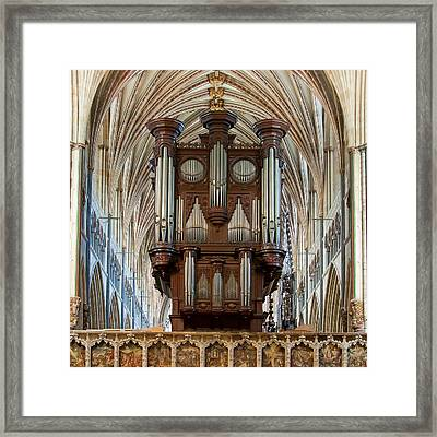 Exeter's King Of Instruments Framed Print