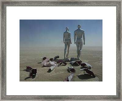 Exfoliate Vi Framed Print by Chad Rice