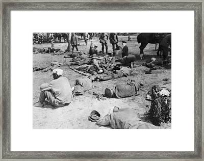 Exhausted Russian Soldiers Framed Print