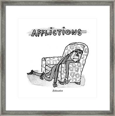Exhaustion Framed Print by William Steig