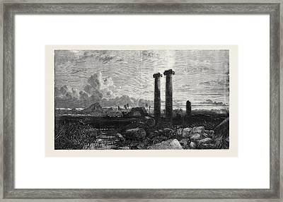 Exhibition Of The British Institution Opened February 7 Framed Print