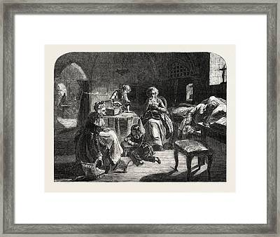Exhibition Of The Royal Academy, The Royal Family Of France Framed Print by French School