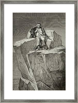 Exiled On Saint Helena, He  Chooses Framed Print by Mary Evans Picture Library