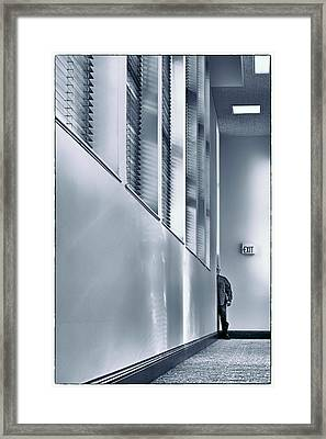 Exit-ential Man - Existentialism Framed Print by Nikolyn McDonald