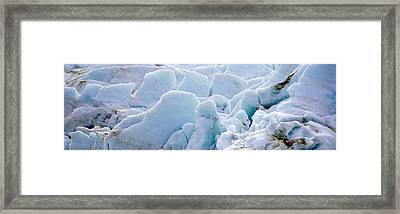 Exit Glacier At Harding Ice Field Framed Print
