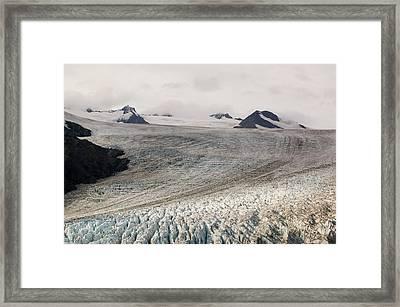 Exit Glacier In The Kenai Fjords Framed Print