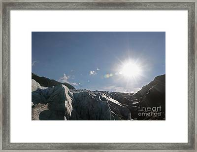 Exit Glacier Framed Print by Russell Christie