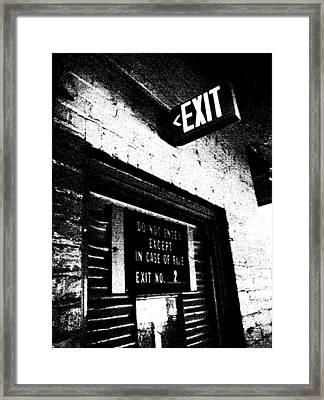Exit Number Two Framed Print