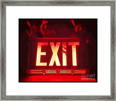 Exit Quick Framed Print by John Malone