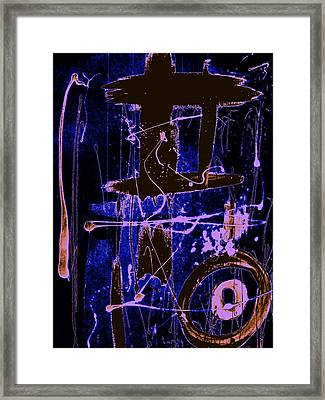 Framed Print featuring the painting Exo Blue 8293 by Cleaster Cotton