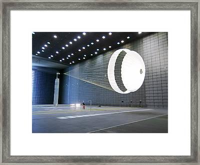 Exomars Schiaparelli Parachute Testing Framed Print