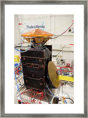Exomars Spacecraft Vibration Testing Framed Print by European Space Agency/s. Corvaja