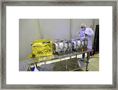 Exomars Tgo Instrument Inspection Framed Print by European Space Agency/b. Bethge