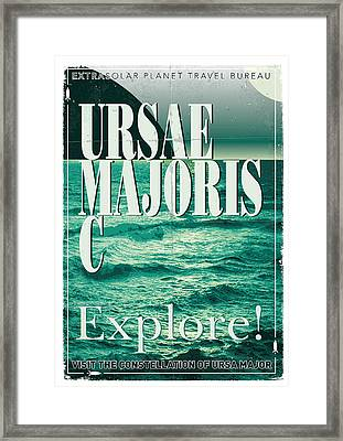 Exoplanet 03 Travel Poster Ursae Majoris Framed Print by Chungkong Art