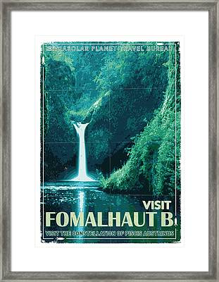 Exoplanet 04 Travel Poster Fomalhaut B Framed Print
