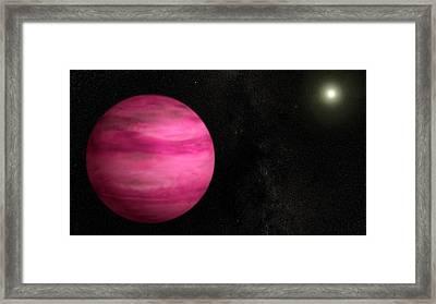 Exoplanet Gj 504b Framed Print
