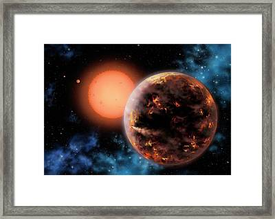 Exoplanet Gliese 876 D Framed Print by Lynette Cook