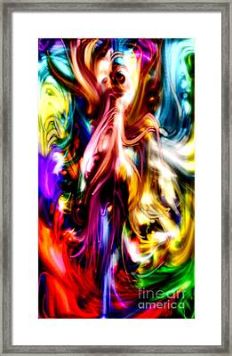Exorcism Of Pigment Framed Print by Kim Peto