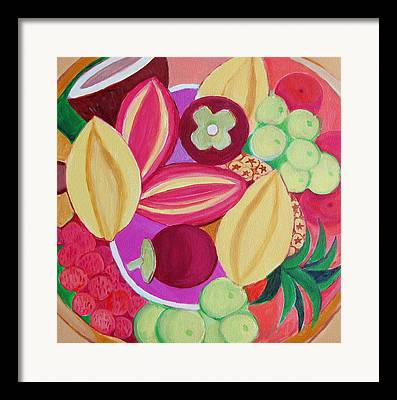 Passion Fruit Paintings Framed Prints