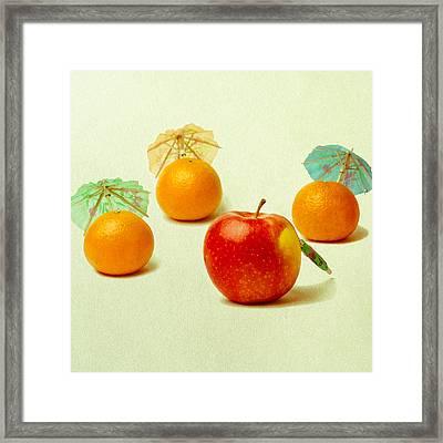 Exotic Fruit - Square Framed Print by Alexander Senin