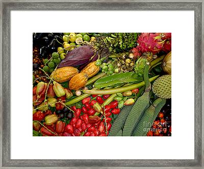 Exotic Fruits Framed Print by Carey Chen
