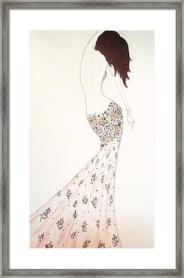 Exotic Lilies Gown Framed Print by Christine Corretti