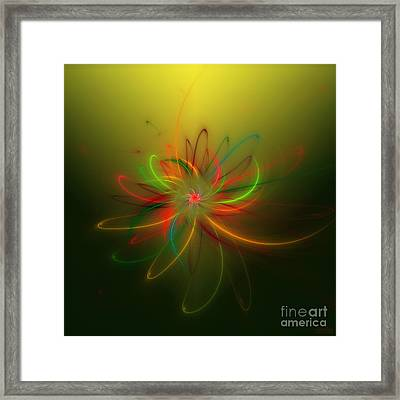 Exotic Lotus Framed Print